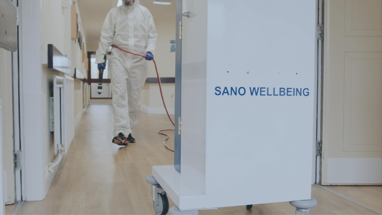 Sano Wellbeing chemical spray dispenser